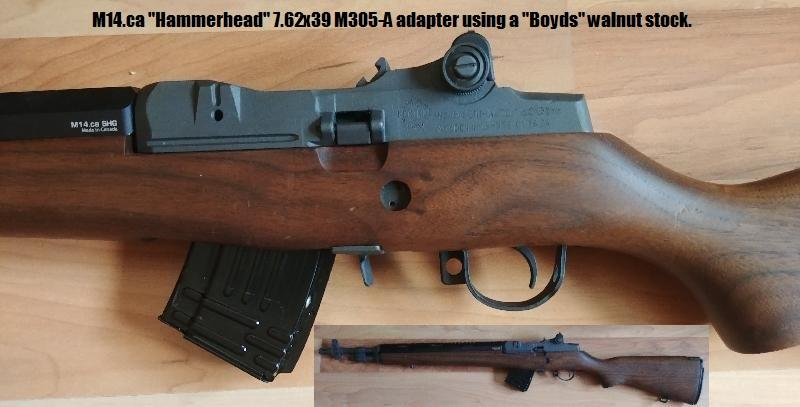 M14.CA M305-A 7.62x39 Adapter Installed, Wood Stock