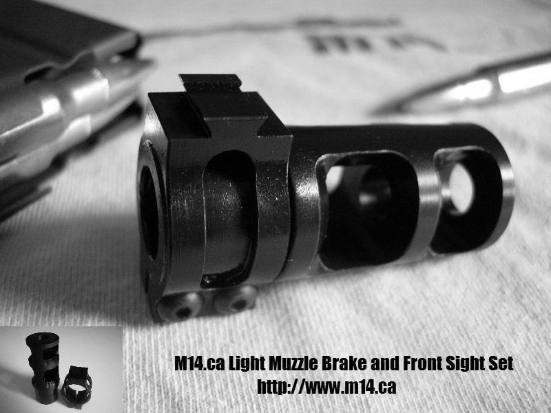 M14/M1A Light Muzzle Brake and Front Sight Set