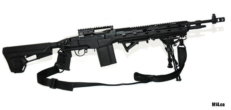 M14/M1A Blackfeather RS, Scout Handguard, LMB Muzzle Brake.