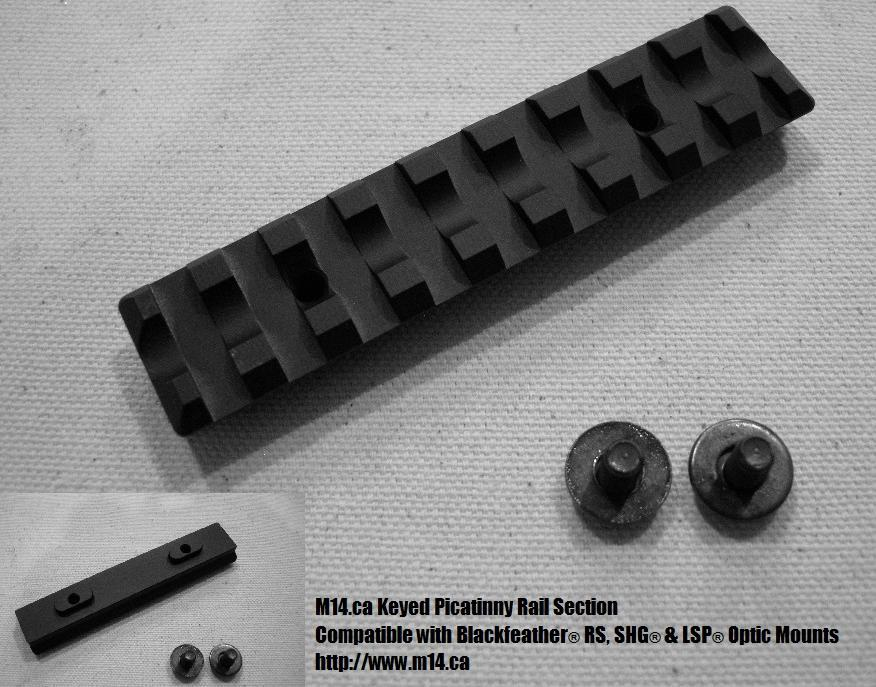 M14/M1A 4 inch picatinny rail section